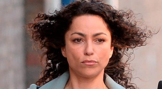 Former Chelsea FC team doctor Eva Carneiro arrives at Croydon Employment Tribunal where a case brought by her against the club and former manager Jose Mourinho is scheduled to begin.