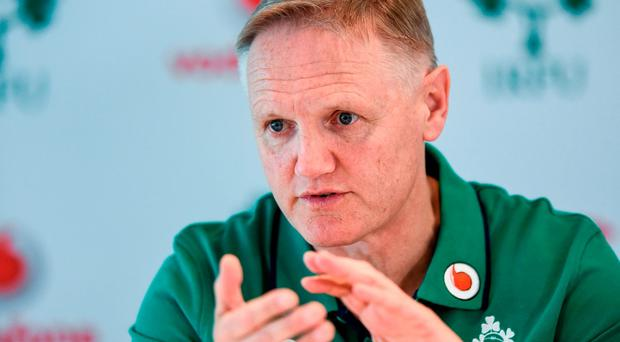 Ireland head coach Joe Schmidt during a press conference in the Aviva Stadium, Lansdowne Road, Dubln. Photo by Ramsey Cardy/Sportsfile