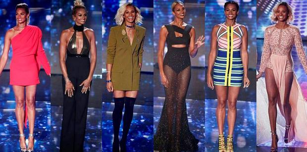 Alesha Dixon posted an image of her BGT outfits - thanking her 'glam squad'