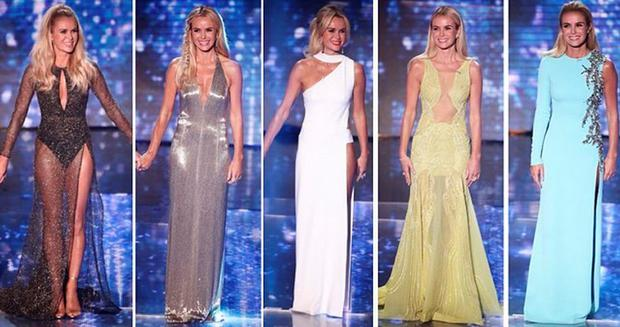 Amanda Holden posted a montage of her BGT outfits to her official Instagram account