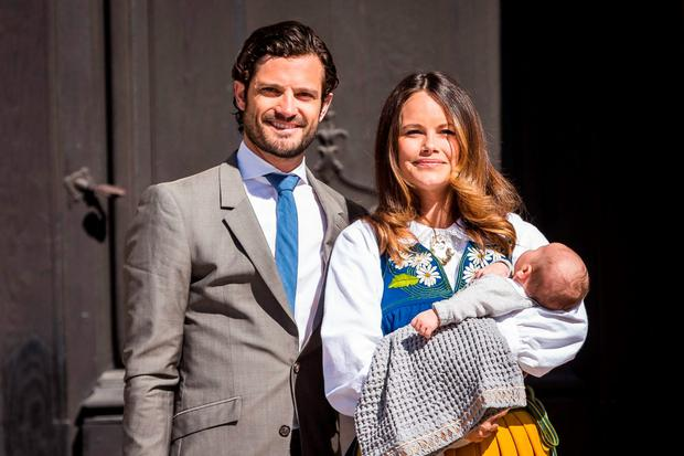 Prince Carl Phillip, Princess Sofia, and Prince Alexander of Sweden participate in a ceremony celebrating Sweden's national day at the Royal Palace on June 6, 2015 in Stockholm, Sweden. (Photo by Michael Campanella/Getty Images)