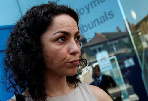 Former Chelsea Football Club doctor Eva Carneiro the Croydon Employment Tribunal in London. REUTERS/Neil Hall