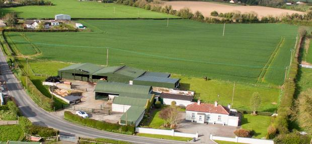 The 61ac farm on the Dublin-Meath border goes to auction this Thursday with a guide price of €950,000.