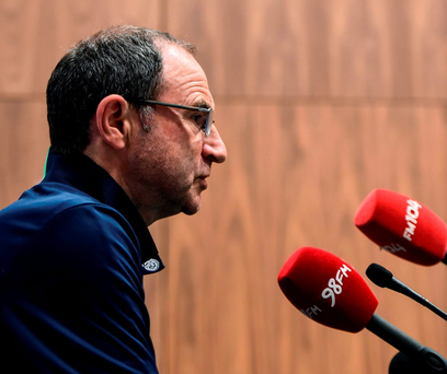 Martin O'Neill at yesterday's press conference in Abbotstown Photo: STEPHEN MCCARTHY / SPORTSFILE