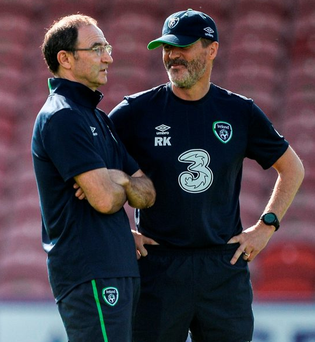 Martin O'Neill and Roy Keane Photo: David Maher/Sportsfile