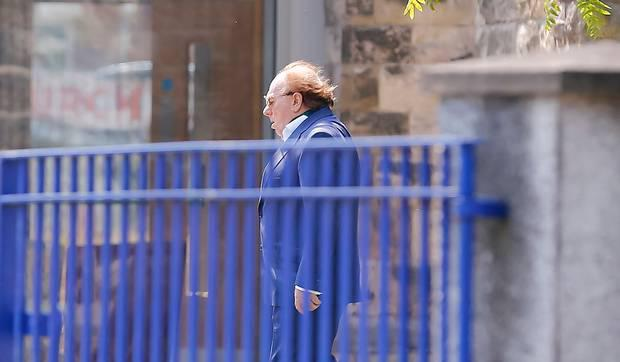 Sir Van Morrison attends funeral of his mother Violet Morrison in east Belfast. Photo by Kevin Scott / Belfast Telegraph