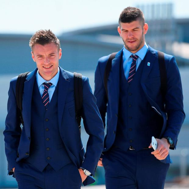Jamie Vardy and Fraser Forster head for France