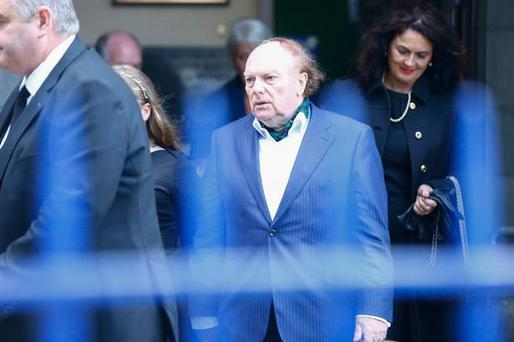 Sir Van Morrison and Michelle Rocca attends his mother's funeral. Photo by Kevin Scott / Belfast Telegraph