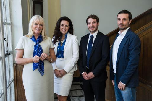 Pictured with the minister are Paul Pietrangelo, COO of Alien Technology TransferÕs Ireland operations; Joanna Murphy, CEO, ConnectIreland; and Emmanuele Angione, the connector who introduced Alien Technology Transfer to Ireland. Credit Paul Sherwood