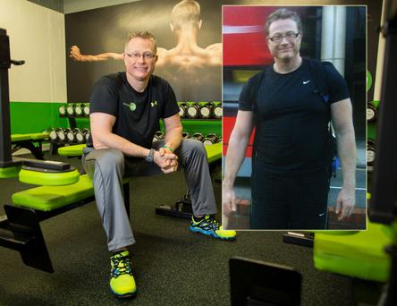 Personal trainer: Gregg Marsh in his gym in Sandyford.