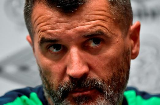 Republic of Ireland assistant manager Roy Keane during a press conference at the National Sports Campus in Abbotstown, Dublin. Photo by David Maher/Sportsfile