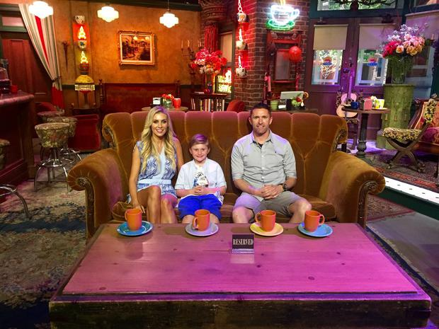 Claudine and Robbie Keane with their son Robert Jr on the set of Friends. Photo: Claudine Keane / Twitter