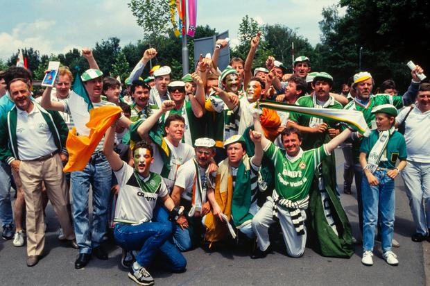 12 June 1988; A general view of Ireland supporters before the game.