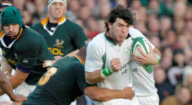 Former Leinster and Ireland winger Horgan played in both defeats to the Springboks in 2004, and is near certain that the current crop will suffer a similar fate, but he does retain a faint optimism. Photo: Matt Browne / SPORTSFILE