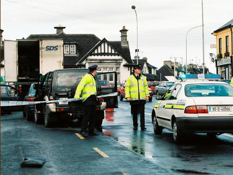 The scene of the shooting of Detective Gardaí Jerry McCabe and Ben O'Sullivan, in Adare, Co Limerick, in June 1996 Photo: Liam Burke, Press 22