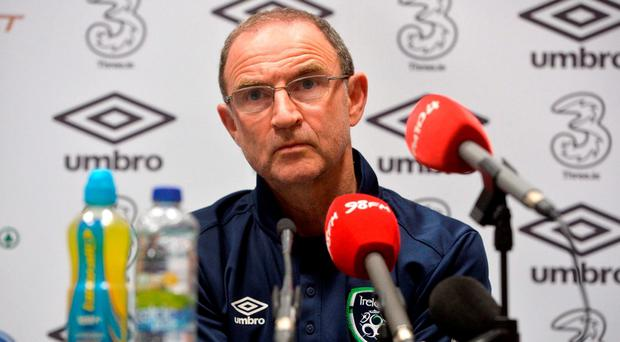 Martin O'Neill manager of Republic of Ireland during a press conference at the National Sports Campus in Abbotstown, Dublin. Photo by David Maher/Sportsfile