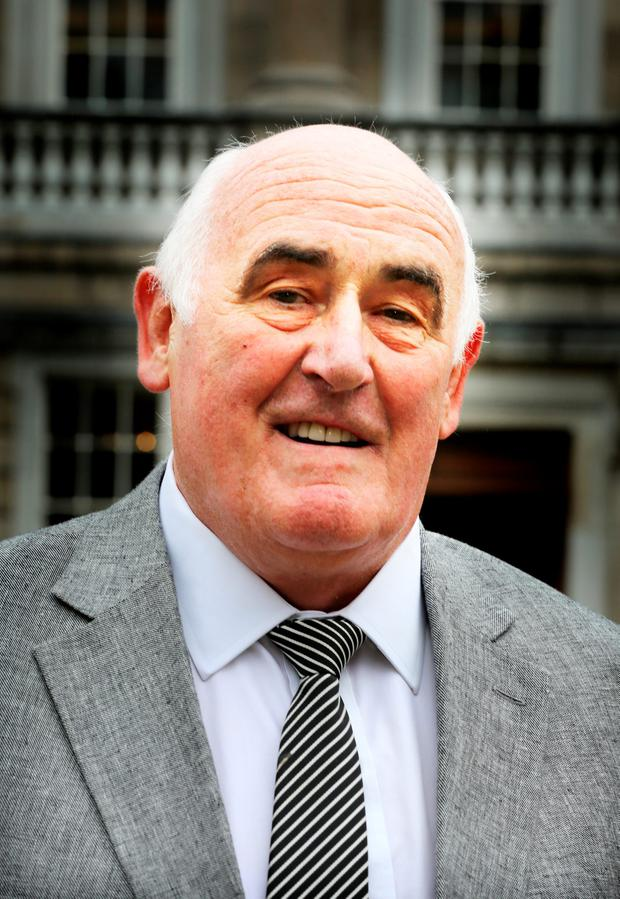 Senator Billy Lawless outside Leinster House yesterday Photo: Tom Burke