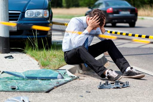 The aftermath of a road traffic accident. Photo: Getty Images.