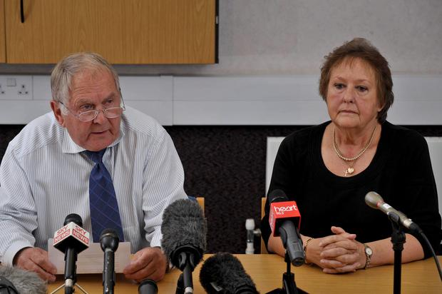 Steve (left) and Pat Hall, the parents of Melanie Hall, who have pleaded for those with information to come forward on the 20th anniversary of her disappearance. Ben Birchall/PA Wire