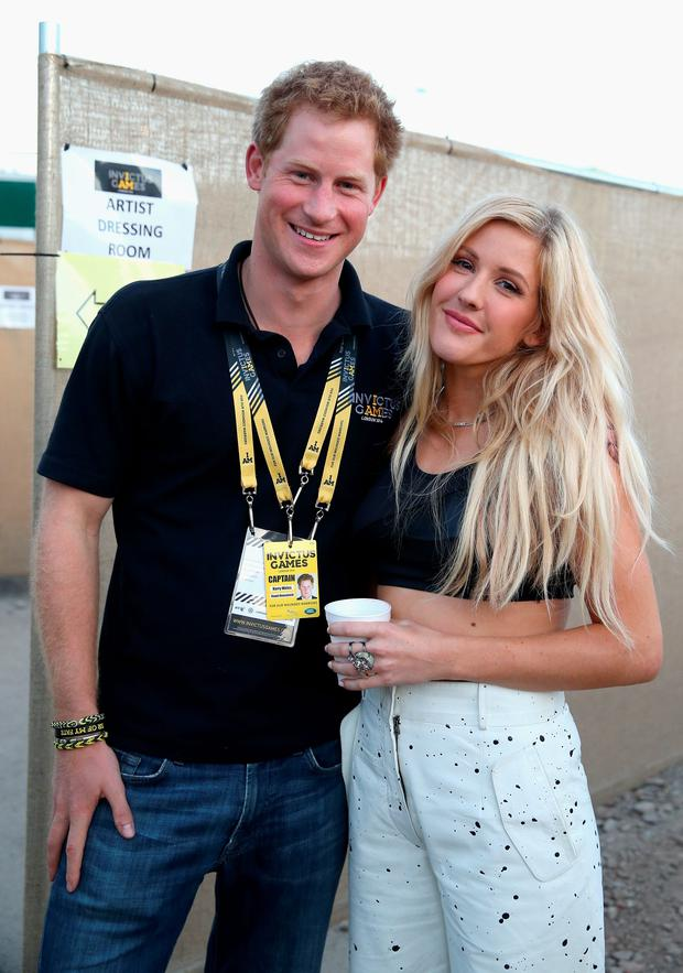 Prince Harry with Ellie Goulding backstage at the Invictus Games Closing Ceremony during the Invictus Games at Queen Elizabeth park on September 14, 2014