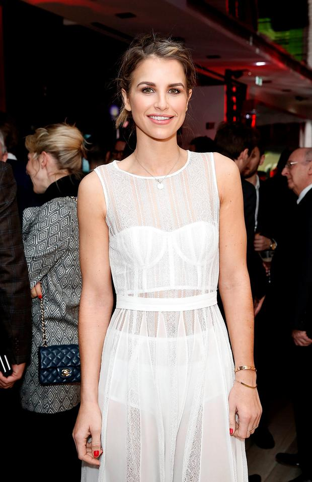 Vogue Williams attends the UK launch of the Ferrari 488 Spider at Watches of Switzerland on February 25, 2016 in London, England. (Photo by John Phillips/Getty Images for Ferrari)
