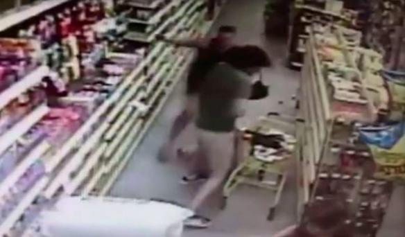 The man, who has been identified by Florida police, grabbed the 13-year-old girl as she shopped with mother at a Dollar General Store.