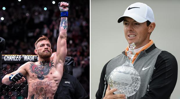 Conor McGregor is the only MMA star on the list and Rory McIlroy is not the top golfer