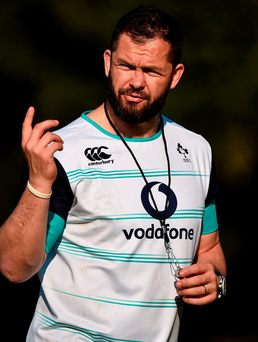 Andy Farrell is part of the Irish coaching set-up for the first time in South Africa. Photo: Brendan Moran/Sportsfile