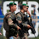 Soldiers patrol ahead of the Uefa 2016 European Championship in Nice, France. Photo: Eric Gaillard/Reuters