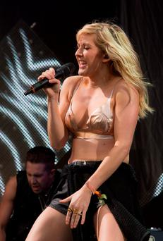 Ellie Goulding, pictured performing on stage, and Britain's Prince Harry are rumoured to be in a relationship, according to media reports. Photo by Joel Ryan/Invision/AP
