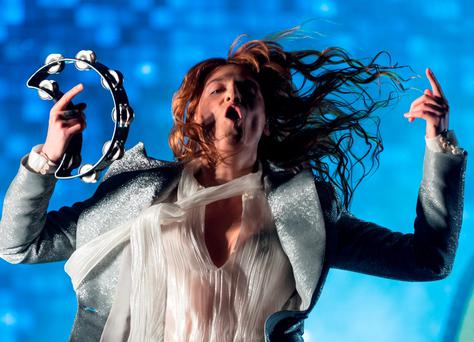 Florence Welch of Florence and the Machine performs at last year's Glastonbury festival. Photo: Ian Gavan/Getty Images