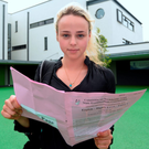 Leaving Cert student Astrid Tidey (19) from Newpark Comprehensive school in Dublin Photo: Caroline Quinn