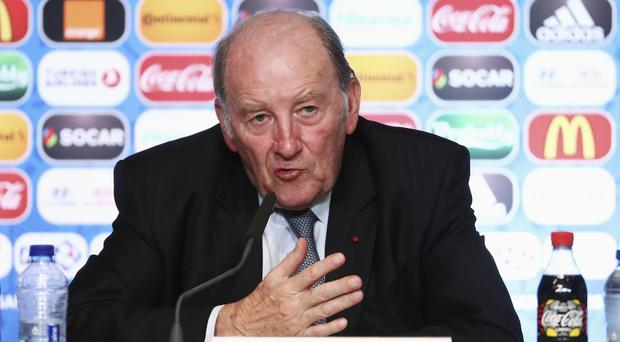 Jacques Lambert at a press conference at the Stade de France Picture: Getty Images