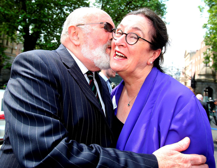 Senators David Norris and Mary-Louise O'Donnell Photo: Tom Burke