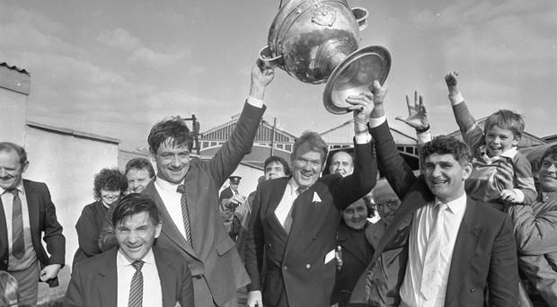O'Dwyer bringing Sam Maguire home in 1986 Picture: NPA/Independent Library