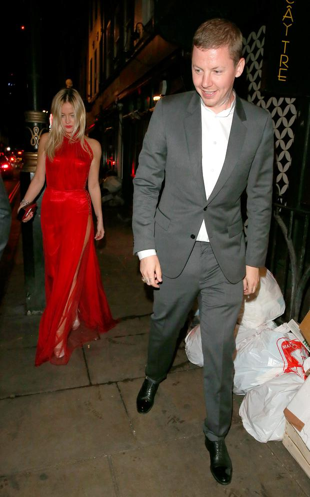 Laura Whitmore & Professor Green are both seen here as they leave The 2016 Glamour Women Of The Year Awards. Picture: Splash News
