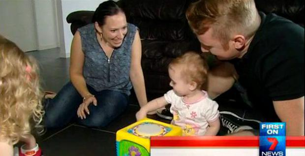 Stacey and daughter Giana (7News)