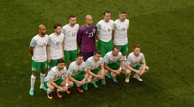 Just under half of Ireland's 23-man squad could play for another country
