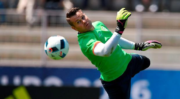 Shay Given of Republic of Ireland during squad training at at UEFA EURO2016 in Versailles, Paris, France. Photo by David Maher/Sportsfile