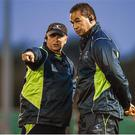 Dave Ellis (left) with Pat Lam; Sportsfile