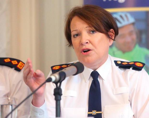 Garda Commissioner, Noirin O'Sullivan speaks at the launch of An Garda Síochána Modernisation and Renewal Programme 2016-2021 at Farmleigh House. Photo: Damien Eagers