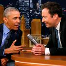 President Obama with Jimmy Fallon on 'The Tonight Show'. Photo: Reuters