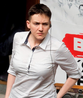 Nadia Savchenko was released from a Russian prison only two weeks ago. Photo: AP