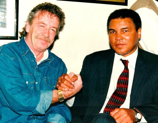 Paddy Monaghan and Muhammad Ali. Photo: PA