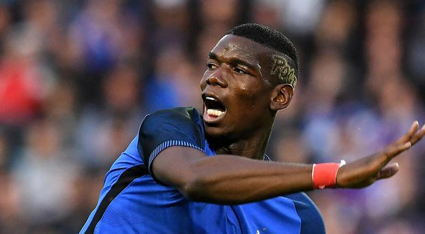 Paul Pogba in action for France at Euro 2016