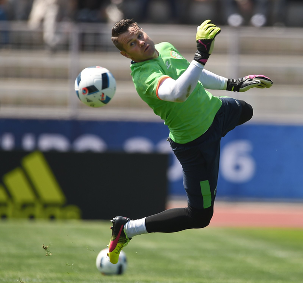 Shay Given during squad training Picture: Sportsfile