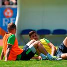 Shane Long and Glenn Whelan of Republic of Ireland during squad training at at UEFA EURO2016 in Versailles, Paris, France. Photo by David Maher/Sportsfile