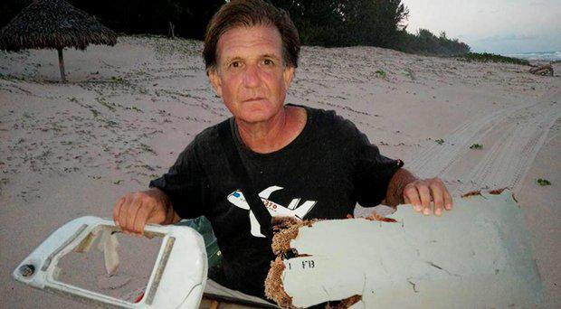 The latest debris was found by adventurer Blaine Gibson on a beach in Madagascar Blaine Alan Gibson