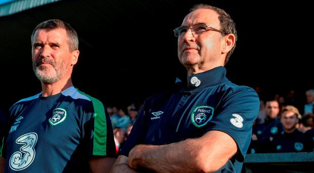 Republic of Ireland manager Martin O'Neill and assistant manager Roy Keane