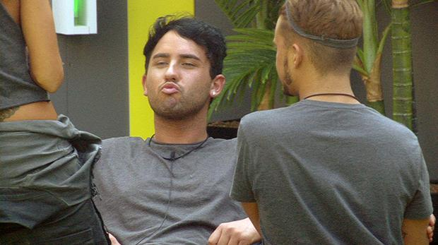 Hughie in the Big Brother house
